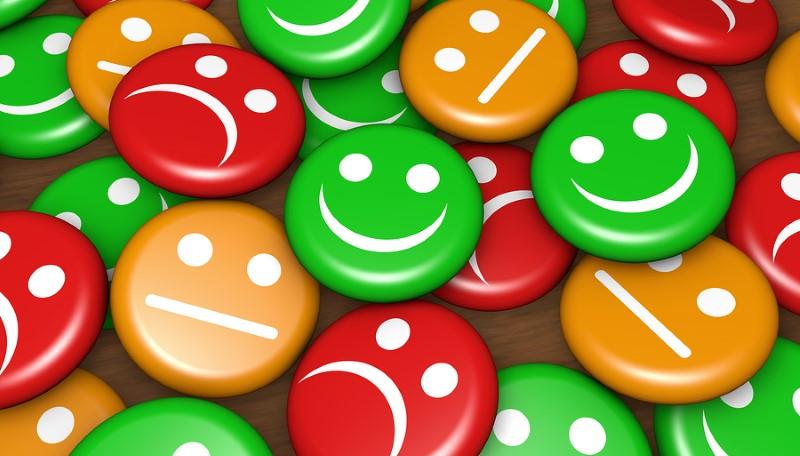 Maklerbewertung Immobilienscout24 mit Happy und Nicht-Happy Smileys