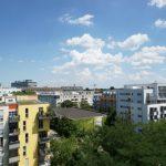München-Haidhausen, Ausblick von der 3-Zi-Wohnung im 8. Stock