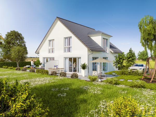 Neubau Doppelhaushaelfte in Muenchen-Feldmoching