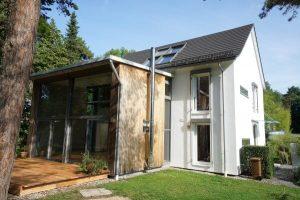 einfamilienhaus oberschleißheim erbpacht gartenfassade