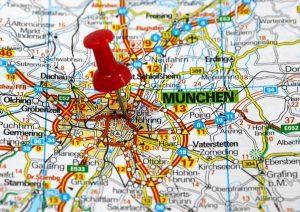 Das Umland von München mit seinen Hauptstraßen und Orten