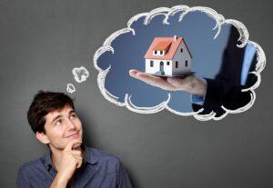 Immobilie anbieten – Gedanke