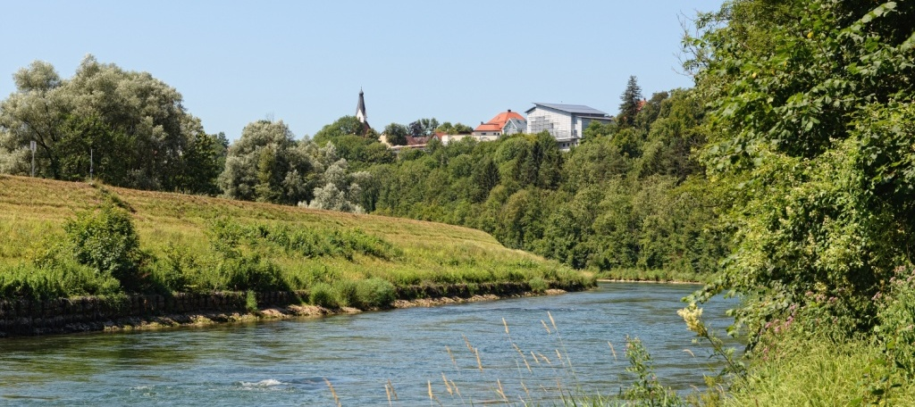 Isar River next to Pullach (Bavaria, Germany)