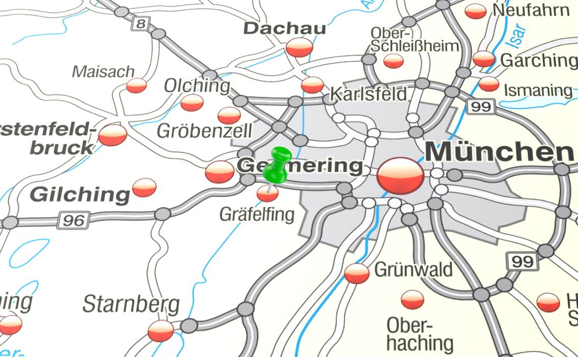 Gräfelfing Karte