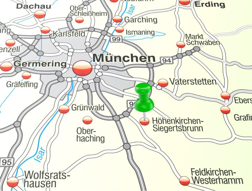 Höhenkirchen-Siegertsbrunn – Karte