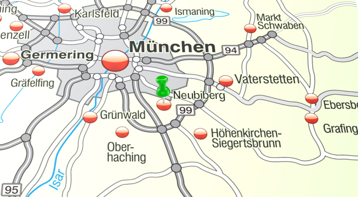 Neubiberg Karte