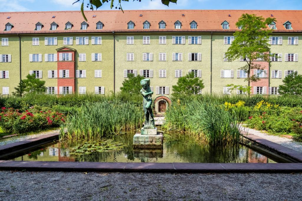 Borstei, residential complex in the Moosach district in Munich, Germany.