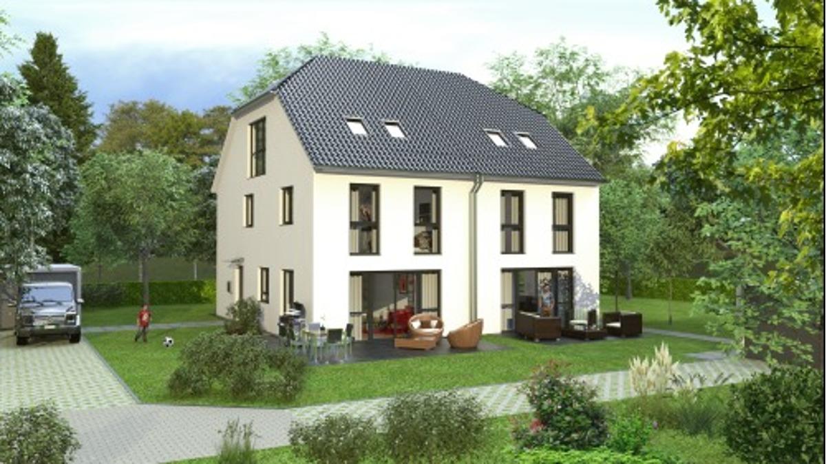 Neubau DHH, Grundstücksbesichtigung/Planeinsicht am SONNTAG 16.12. nach tel. Vereinbarung, 85540 Haar, Doppelhaushälfte